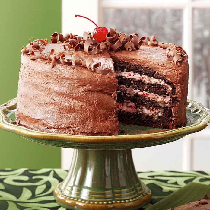 Massachusetts: Cherry Chocolate Layer Cake