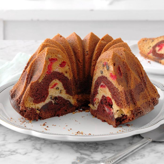 Cherry Chocolate Marble Cake