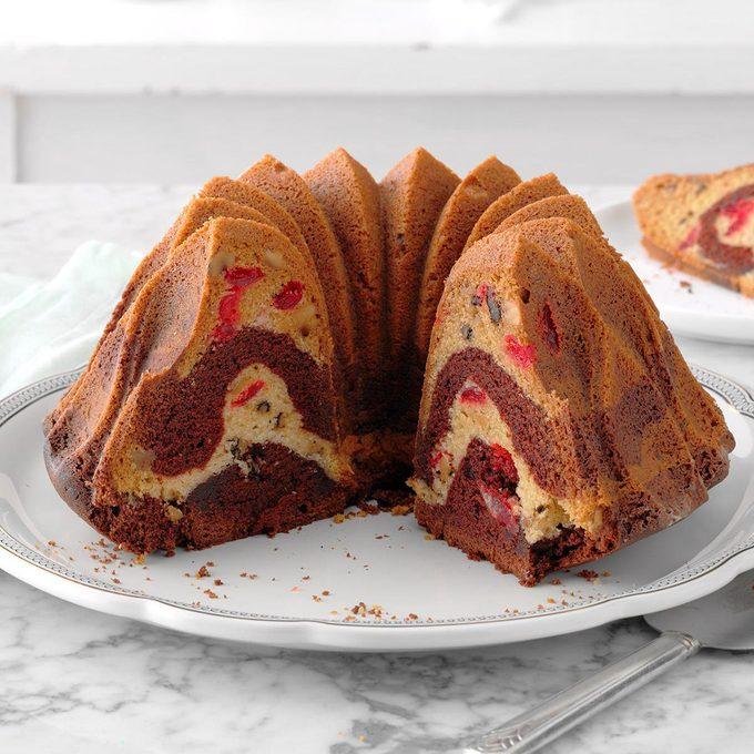 Cherry Chocolate Marble Cake