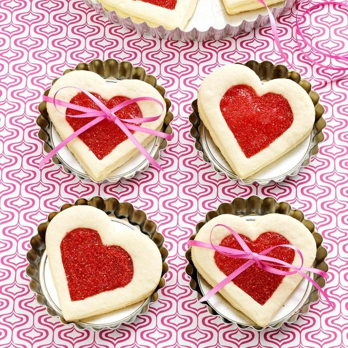 Cherry-Filled Heart Cookies