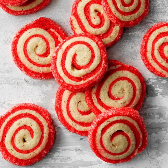 Cherry Pinwheel Cookies