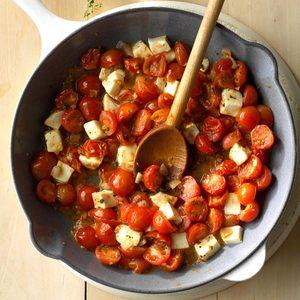 Cherry Tomato Mozzarella Saute