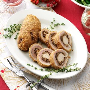 Chestnut-Onion Stuffed Turducken Bundles