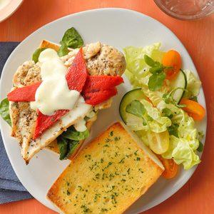 Chicken Alfredo Sandwiches