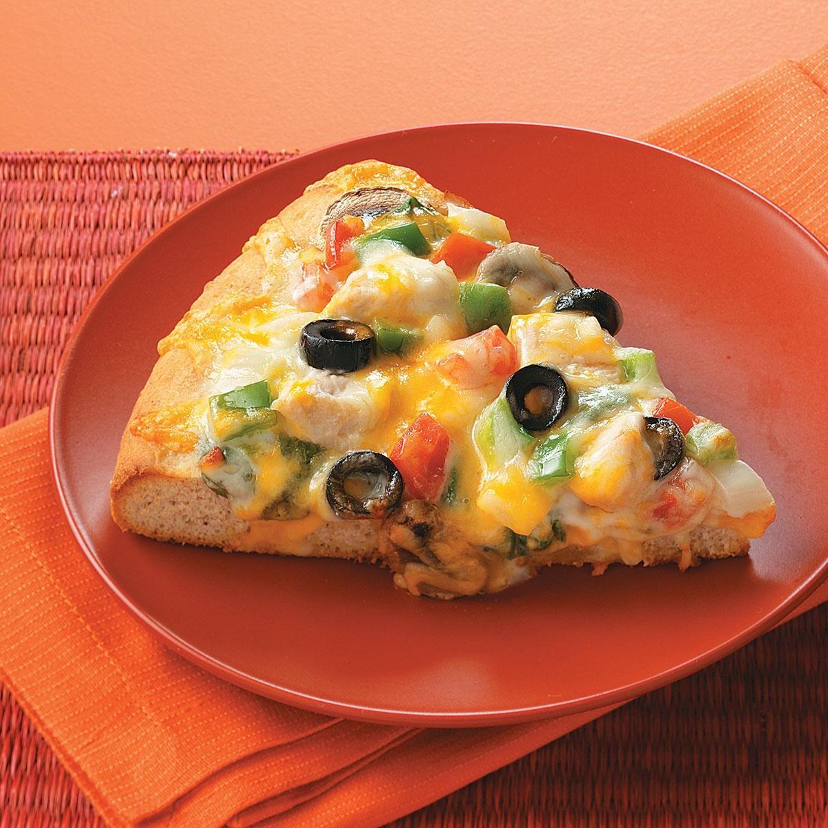 Chicken Alfredo Veggie Pizza