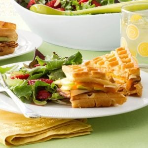 Chicken & Apple Waffle Sandwiches