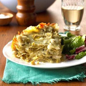 Chicken & Artichoke Lasagna