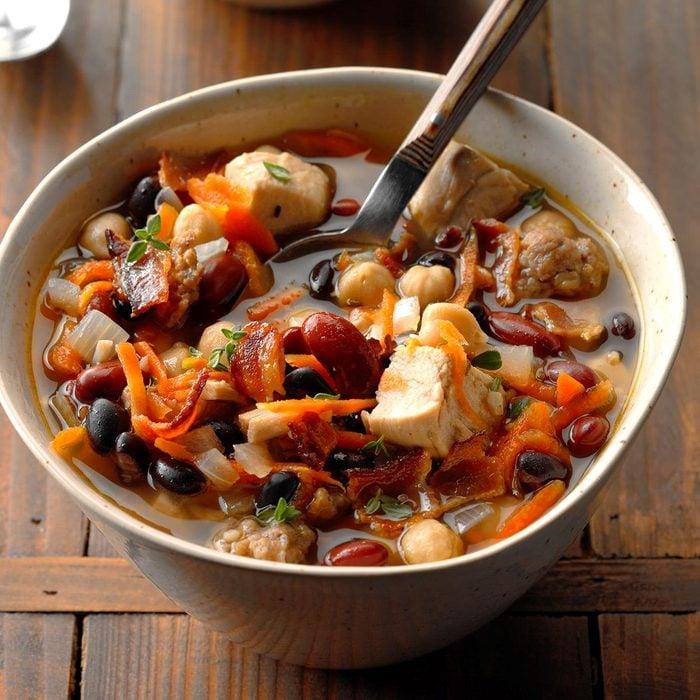 France: Chicken Cassoulet Soup