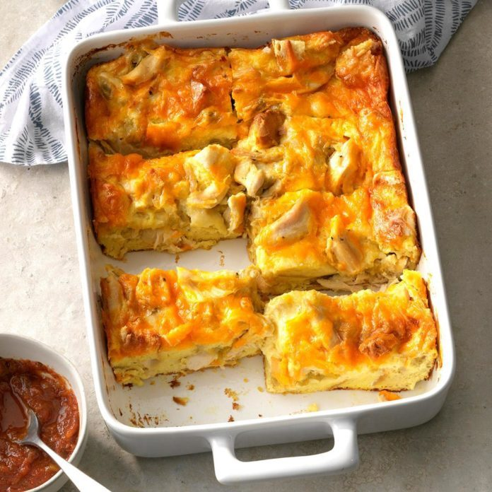Chicken Chiles Rellenos Strata