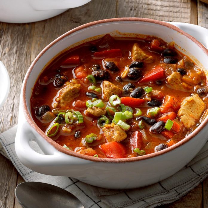 Chicken Chili with Black Beans