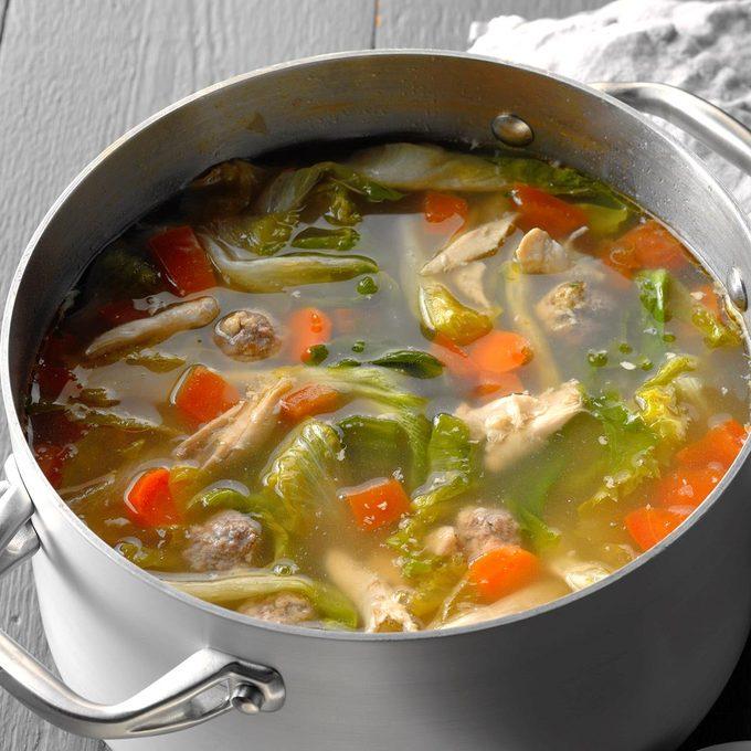 Chicken Escarole Soup With Meatballs Exps Ssbz18 5873 D03 13 2b 1