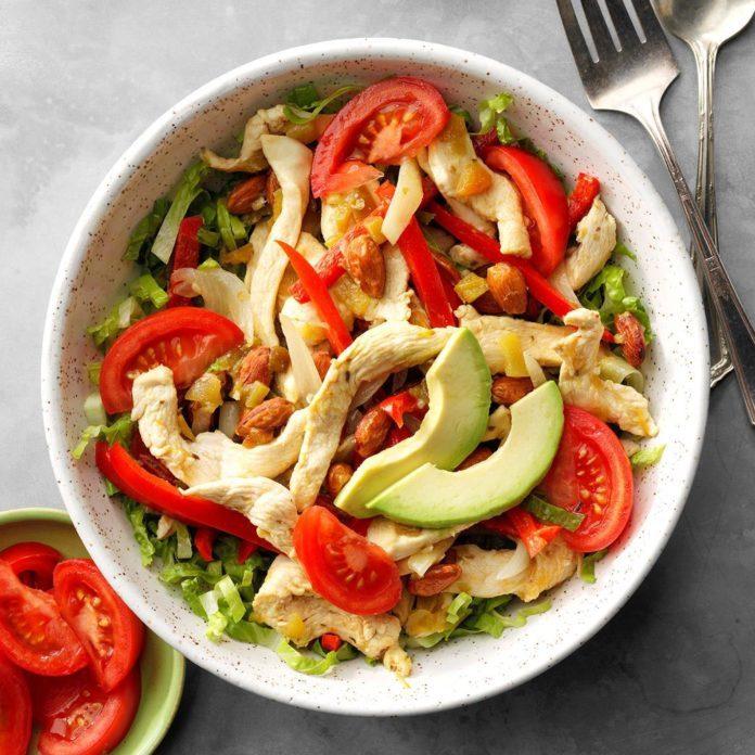 Day 1 Lunch: Chicken Fajita Salad