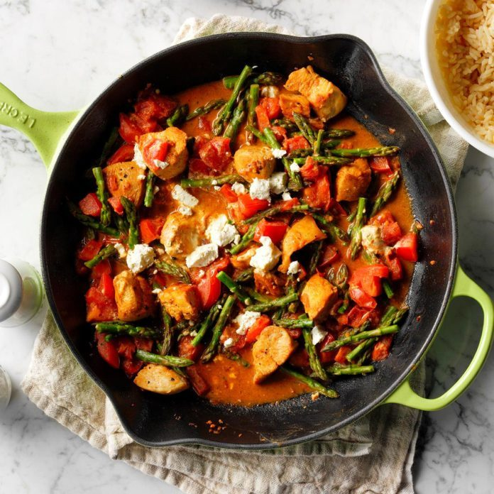 Chicken & Goat Cheese Skillet