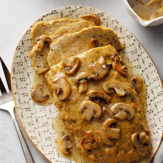 Chicken Loaf with Mushroom Gravy