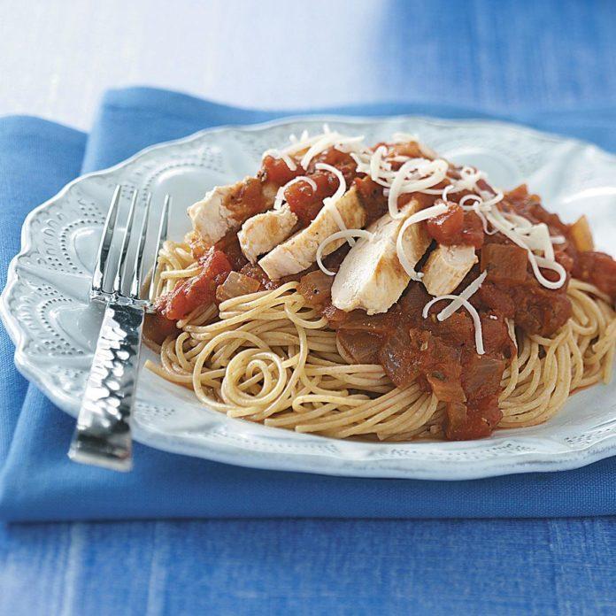 Chicken Marinara with Pasta