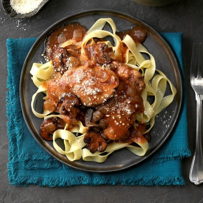 Chicken Merlot with Mushrooms