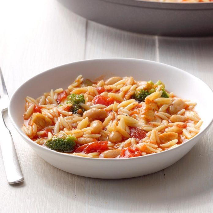 Day 25: Chicken Orzo Skillet