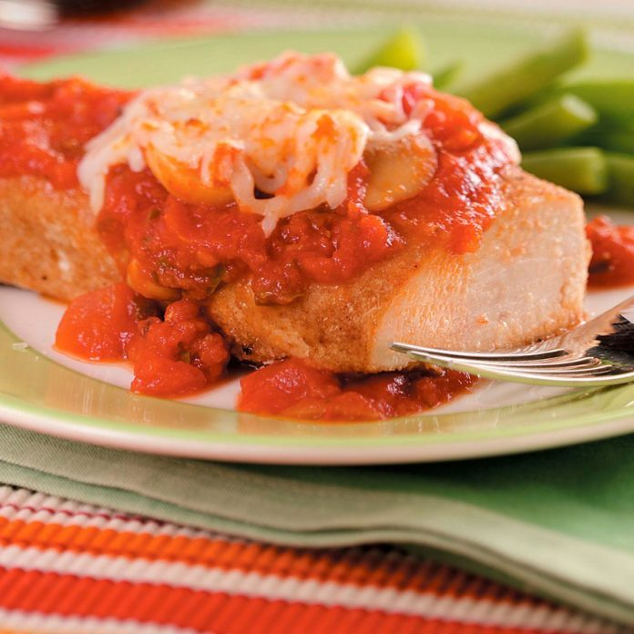 Chicken Parmesan with Mushrooms