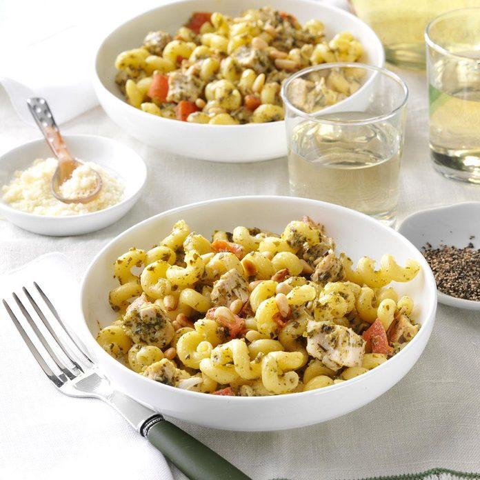 Inspired by: Noodles & Company Pesto Cavatappi