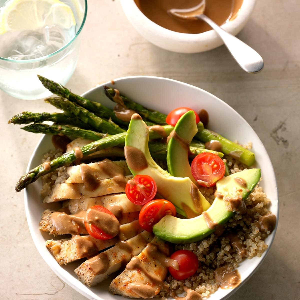 Mediterranean Chicken Quinoa Bowl Recipe: Chicken Quinoa Bowls With Balsamic Dressing Recipe