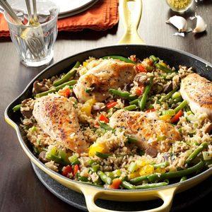 Chicken Rice Skillet