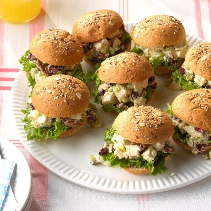 Day Fourteen: Chicken Salad Party Sandwiches
