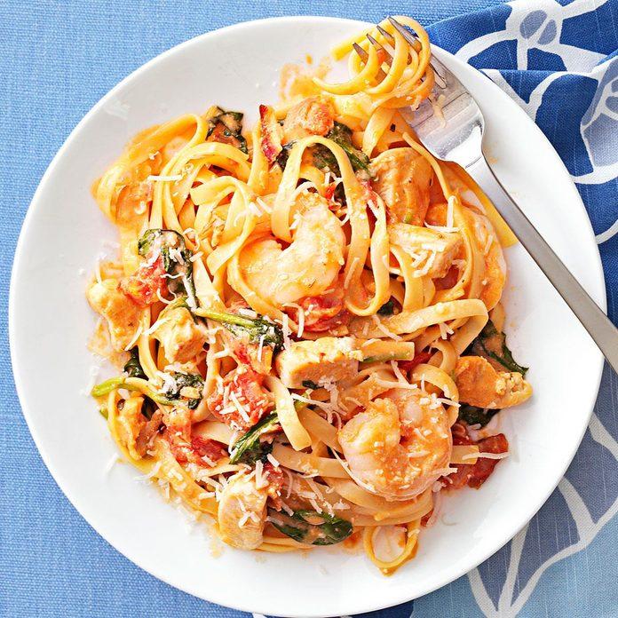 Inspired by Queensland Chicken & Shrimp Pasta