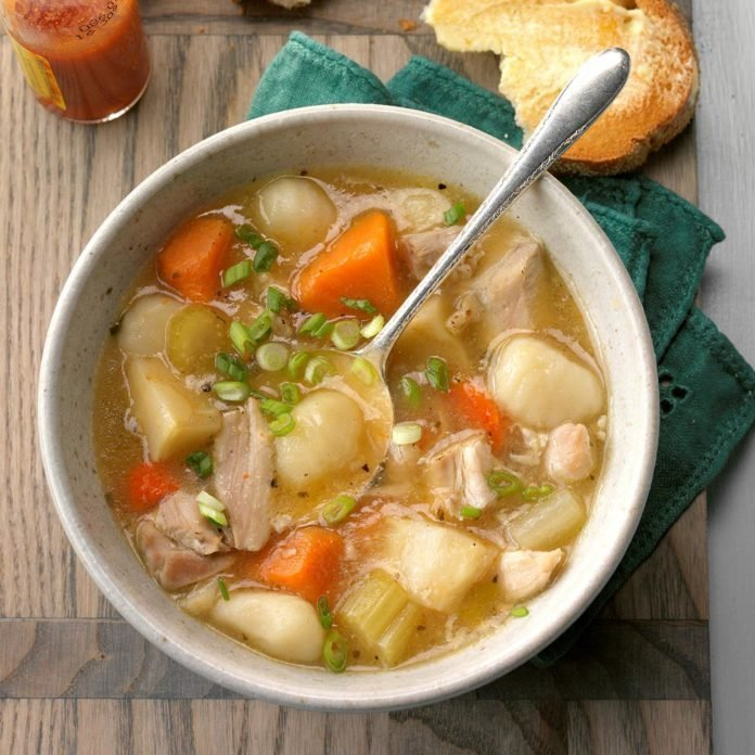 Chicken Stew with Gnocchi