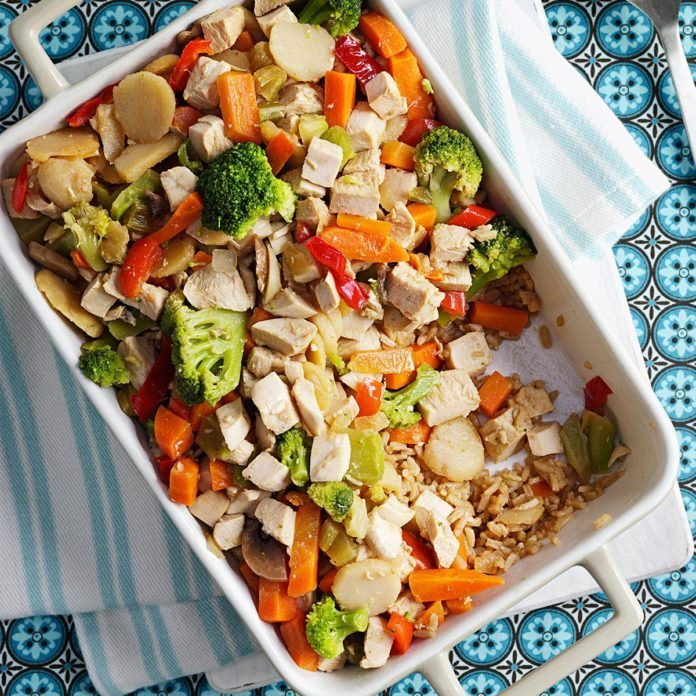 Chicken Stir-Fry Bake