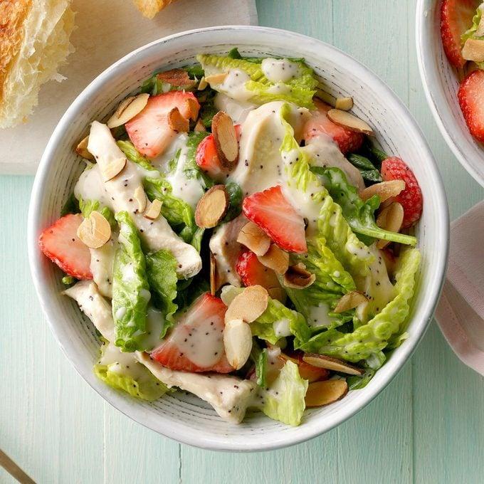 Chicken Strawberry Spinach Salad