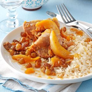 Chicken Thighs with Ginger-Peach Sauce
