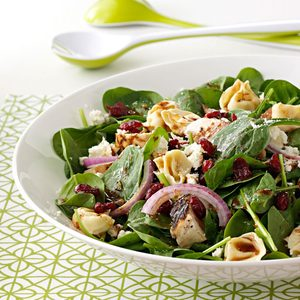 Chicken & Tortellini Spinach Salad