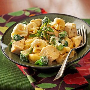 Chicken Tortellini in Cream Sauce