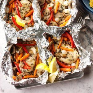 Chicken Veggie Packets