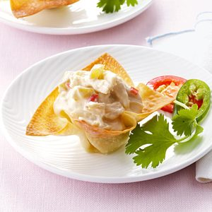 Chicken Wonton Cups