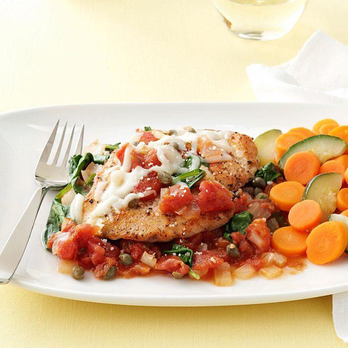 Chicken in Tomato-Caper Sauce
