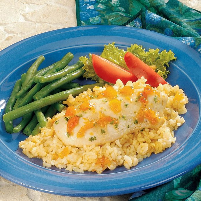 Chicken 'n' Rice with Apricot Sauce