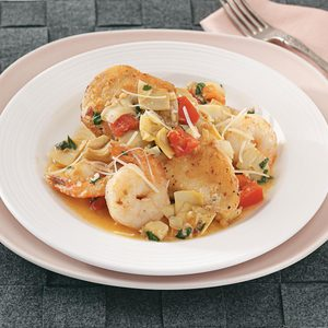 Chicken with Artichokes and Shrimp