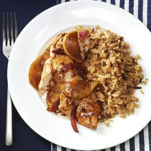 Chicken with Caramelized Pears