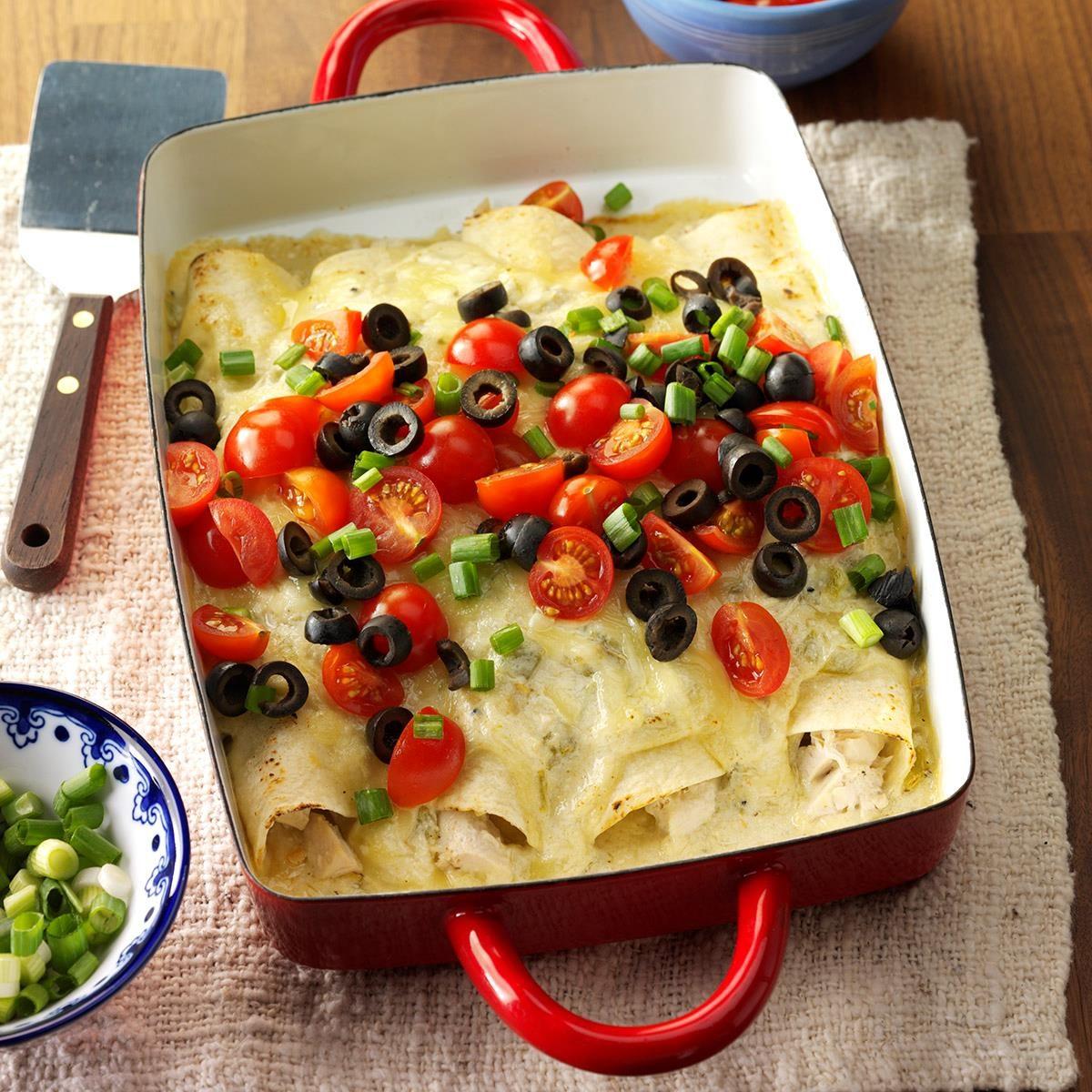 Chili Chicken Enchiladas Recipe How To Make It Taste Of Home