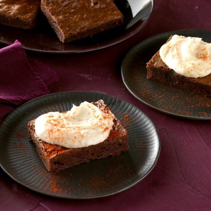 Chili-Chipotle Brownie Bars