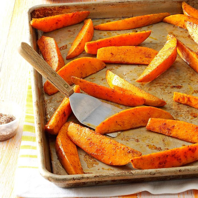 Chili-Spiced Sweet Potato Wedges
