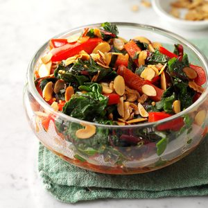 Chinese Chard with Almonds