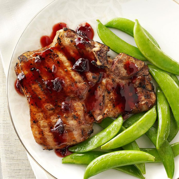 Chipotle-Raspberry Pork Chops