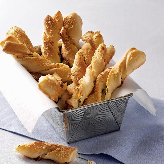 Spreads & Breads: Chive-and-Cheese Breadsticks