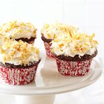 Chocolate Angel Cupcakes with Coconut Cream Frosting
