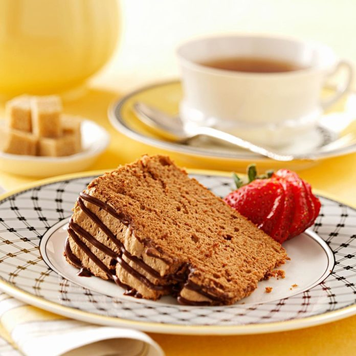 Chocolate Angel Food Cake with Chocolate Icing