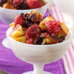 Chocolate Bread Pudding with Raspberries