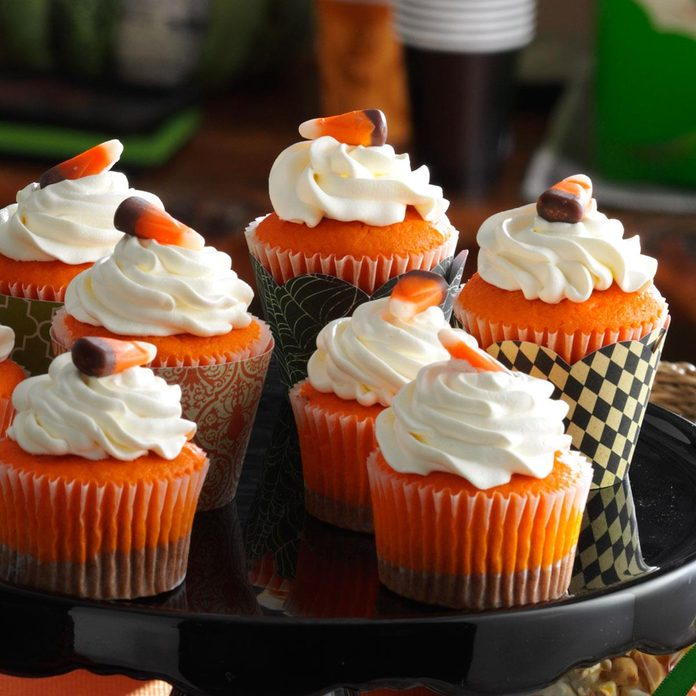 Sweet Treat: Chocolate Candy Corn Cupcakes