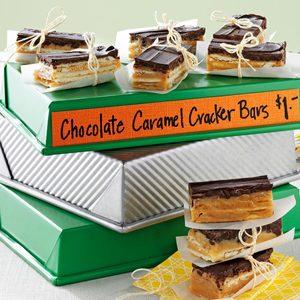 Chocolate Caramel Cracker Bars